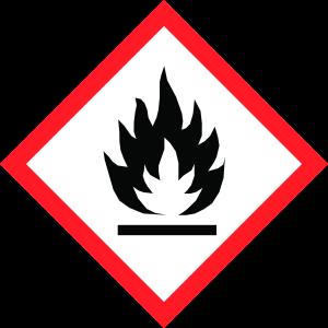Kennzeichnung Penetriermittel, Gefahrensymbol Flamme
