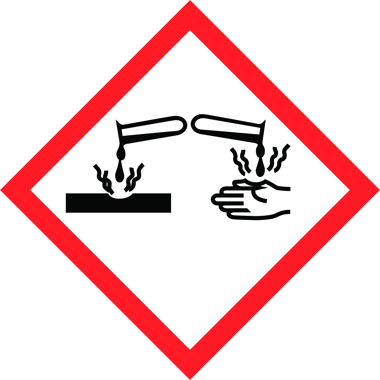 GHS Symbol Ätzend AGO Quart