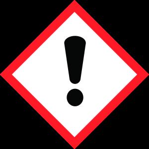 Kennzeichnung Penetriermittel, Gefahrensymbol Ausrufezeichen
