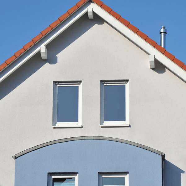 Acryl Fassadenfarbe_Fassade-Graublau