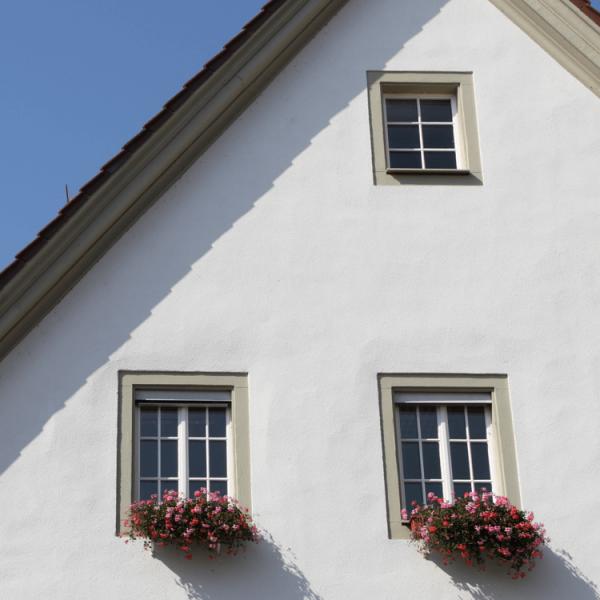 Acryl Fassadenfarbe Fassade weiss