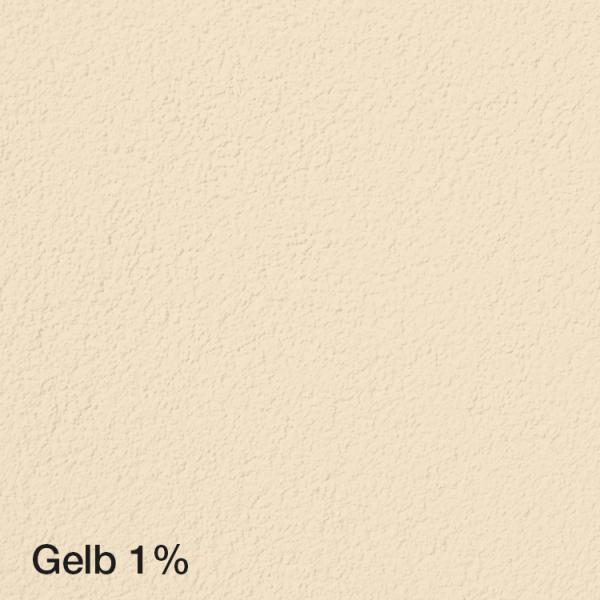 Farbton Acryl Fassadenfarbe Gelb 1% auf Fassade