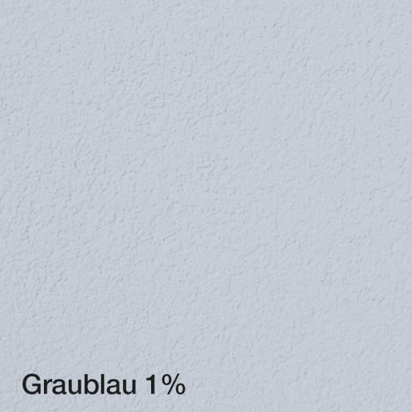 Farbton Acryl Fassadenfarbe Graublau 1% auf Fassade