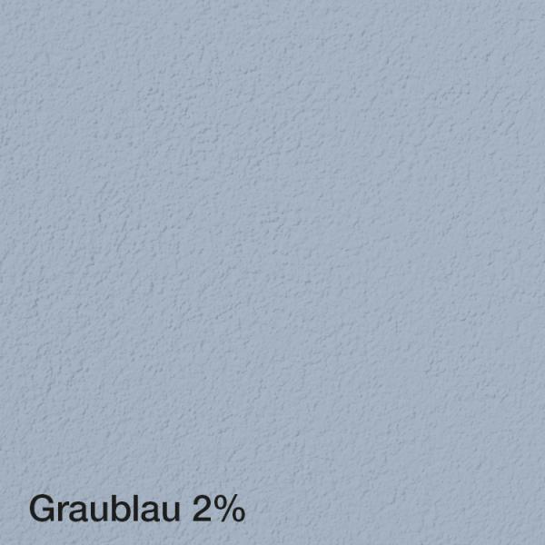 Farbton Acryl Fassadenfarbe Graublau 2% auf Fassade