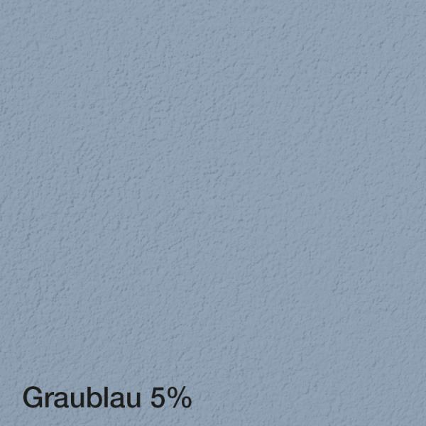 Farbton Acryl Fassadenfarbe Graublau 5% auf Fassade