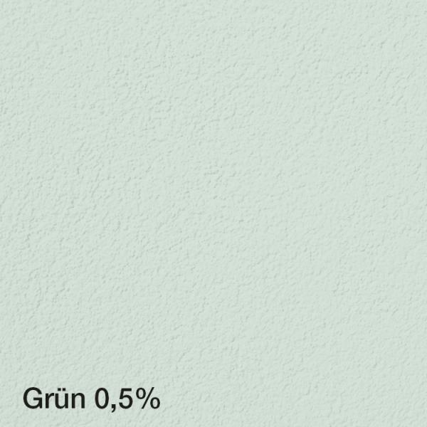 Farbton Acryl Fassadenfarbe Grün 0,5% auf Fassade