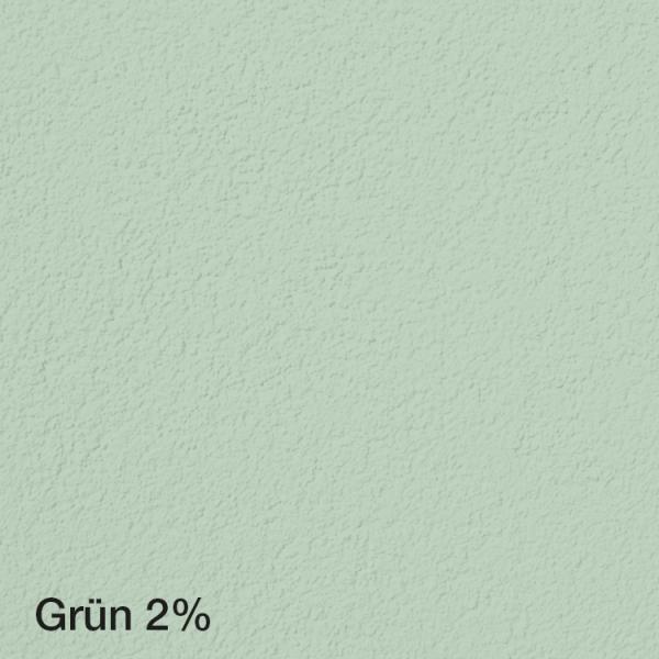 Farbton Acryl Fassadenfarbe Grün 2% auf Fassade