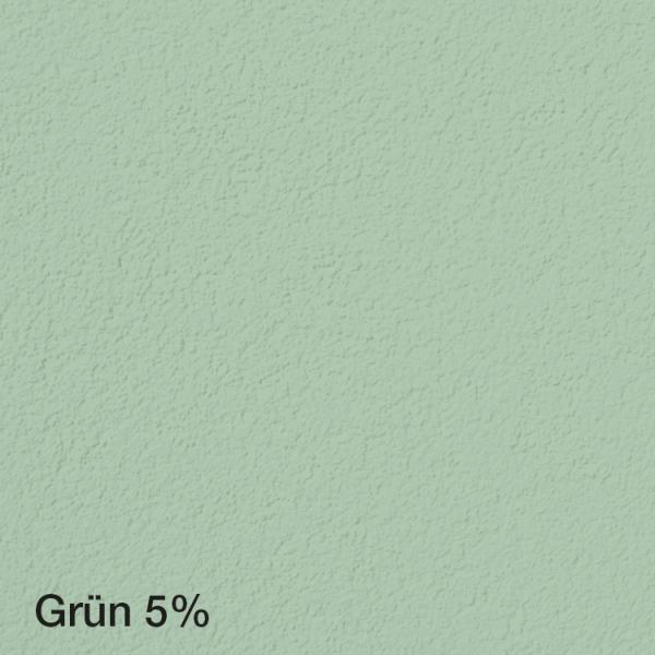 Farbton Acryl Fassadenfarbe Grün 5% auf Fassade