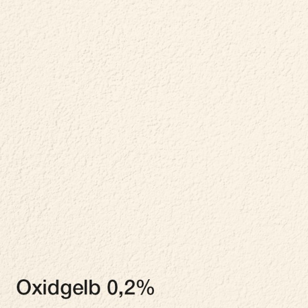 Farbton Acryl Fassadenfarbe Oxidgelb 0,2% auf Fassade