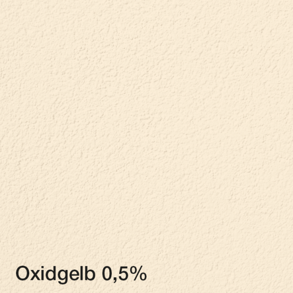 Farbton Acryl Fassadenfarbe Oxidgelb 0,5% auf Fassade