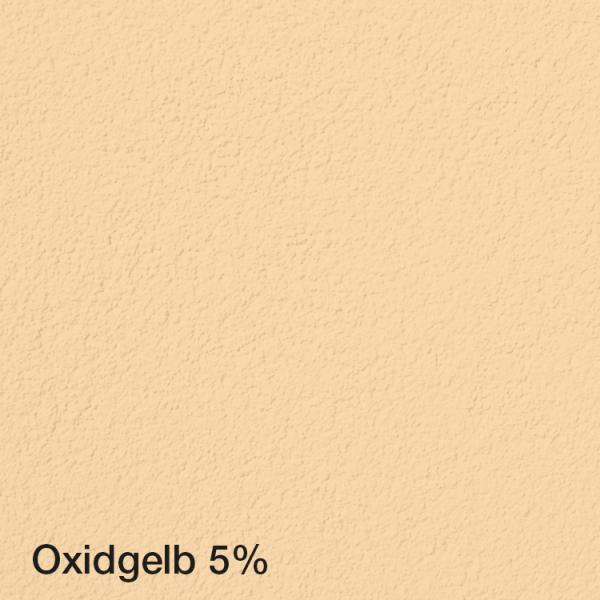 Farbton Acryl Fassadenfarbe Oxidgelb 5% auf Fassade