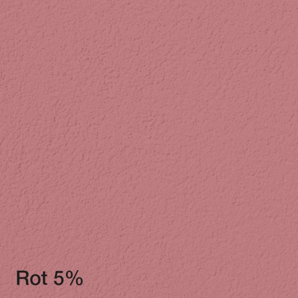 Farbton Acryl Fassadenfarbe Rot 2% auf Fassade