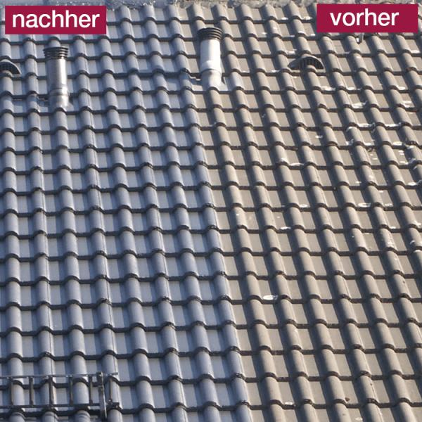 Hoepner Spezial Acryl Dachbeschichtung Steildach vorher nachher Anthrazit 3