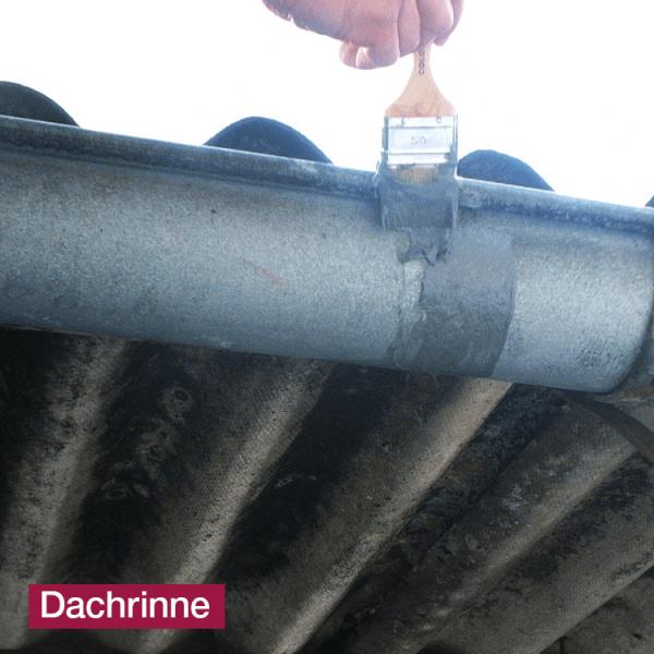 Hoepner Acryl Faserdichtmasse Anwendung Dachrinne