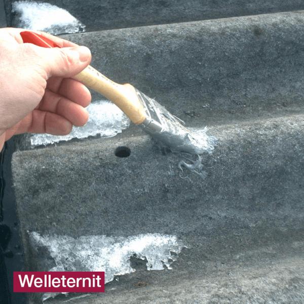 Hoepner Acryl Faserdichtmasse Abdichtung Dach Welleternit