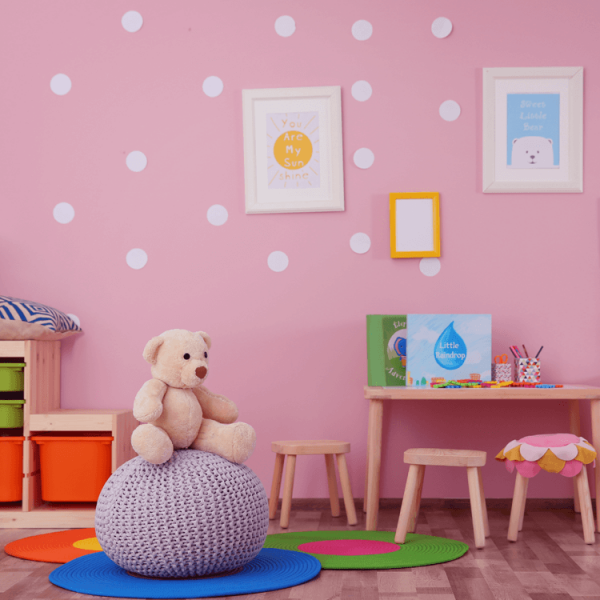 Innenwandfarbe Dispersionsfarbe Happy Kids Farbe Kinderzimmer Rosa